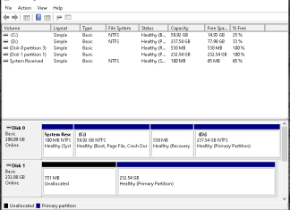 hard drive with no drive letter assigned