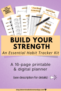 Build Your Strength and Fitness Habit Tracker Planner Kit