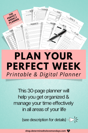 The Perfect Weekly Planner
