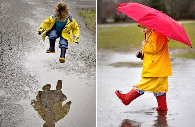 10 razloga zbog kojih deca kišni dan treba da provedu napolju