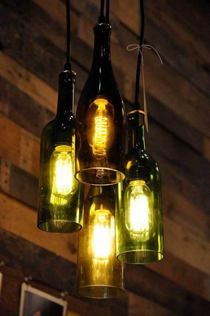 Lámparas de botella de vidrio