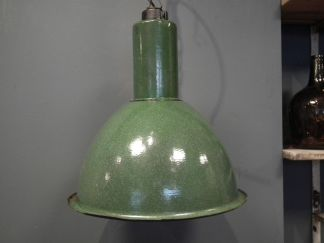 Lamp emaille d groen gr