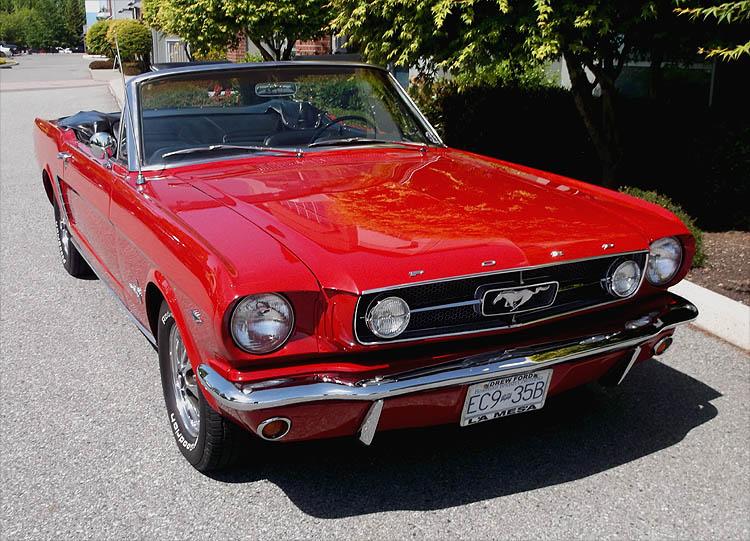 1965 red richs mustang convertible