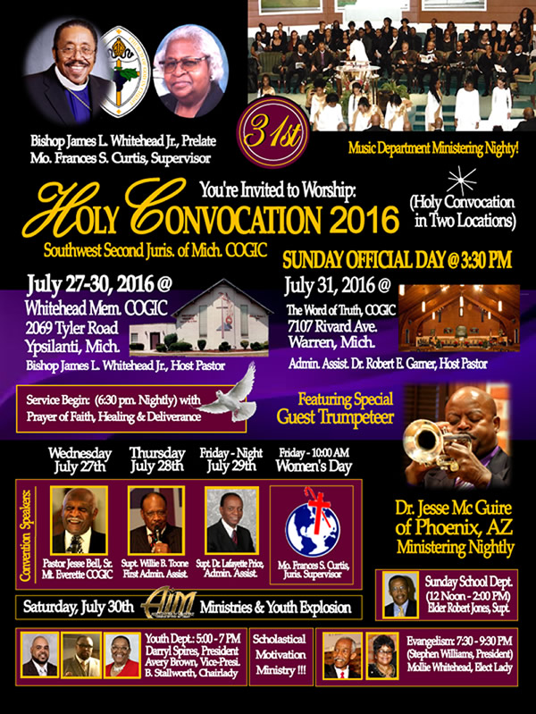 HOLY CONVOCATION 2016 – DetroitGospel com