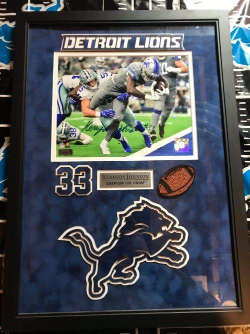 Kerryon Johnson Signed Detroit Lions Poster