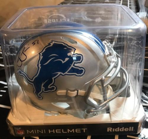 Jahlani Tavai Signed Detroit Lions Mini Helmet