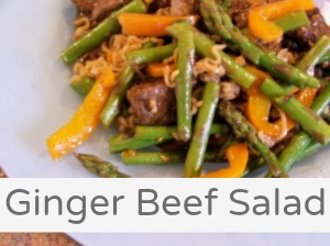 Ginger Beef Salad Recipe