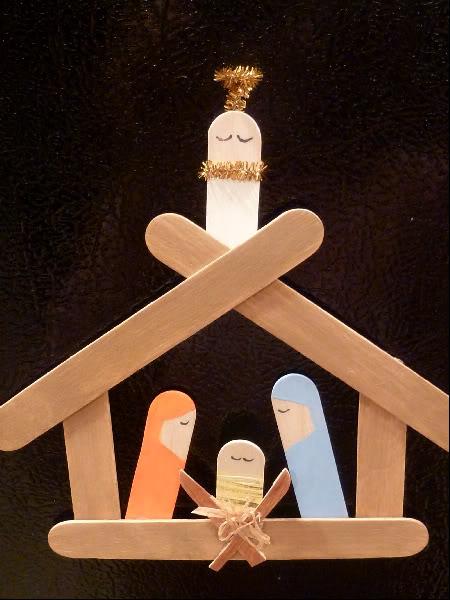 popsicle-stick-manger