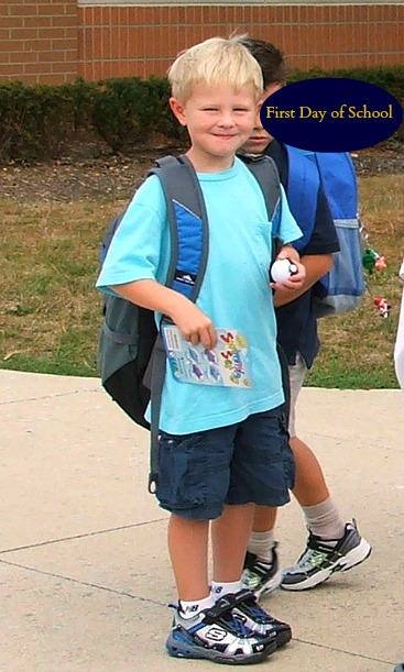 joes first day of first grade outside (2)