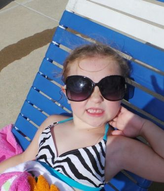 Took GREAT pictures, outside, at the pool!!!