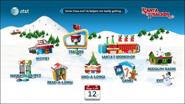 AT&T U-verse Santa Tracker