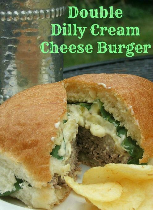 Kraft Double Dilly Cream Cheese Burger #SayCheeseburger #Shop