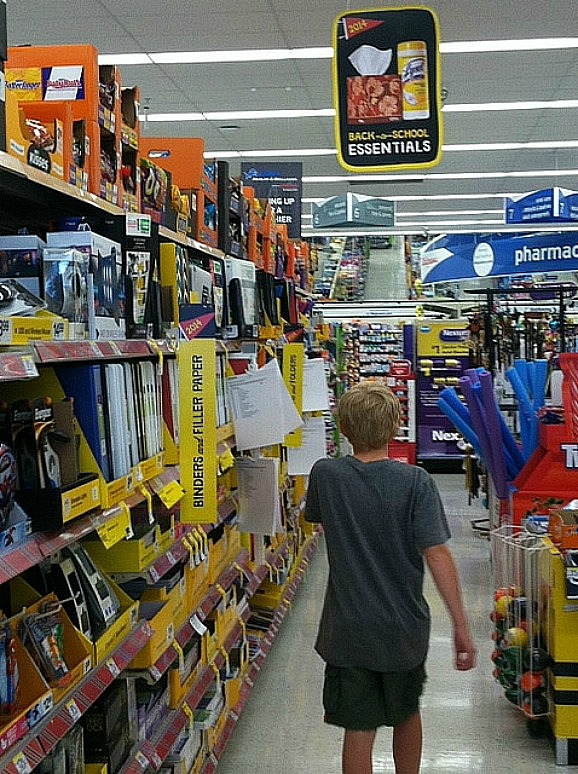 Walgreen's-Aisle-of-Back-to-School-Supplies
