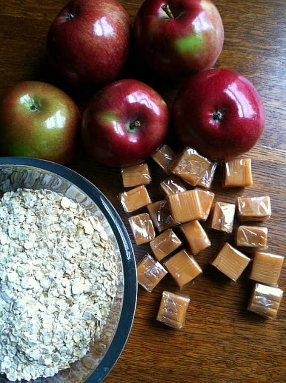 Caramel Apple Crisp Ingredients