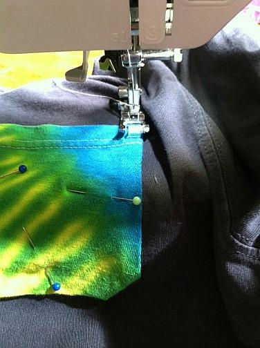 Tie Dye Pocket Sewing