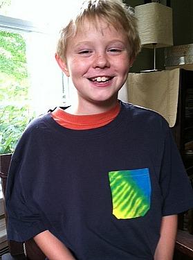 Tie Dye Pocket T-shirt - he likes it!