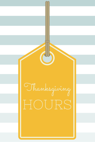 Thanksgiving Week Mall Hours