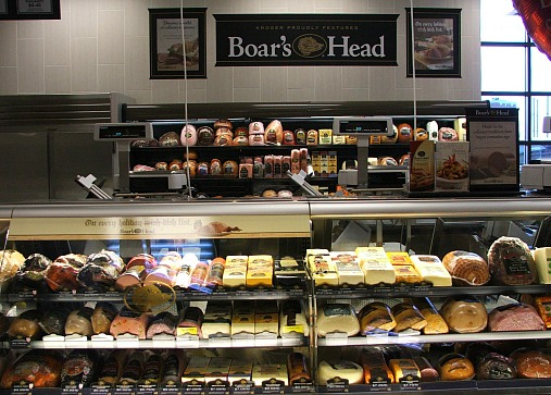 Birmingham Kroger Boars Head Display