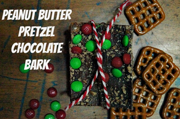 Penut Butter Chocolate Pretzel Bark