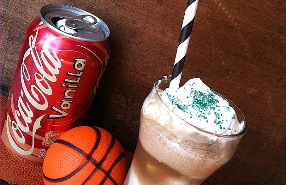 Celebrating the Basketball Season with a Double Vanilla Coke® Float