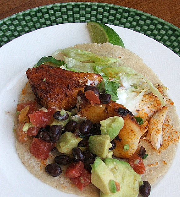 Fish Taco on Plate