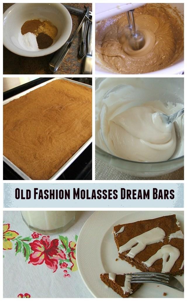 Molasses Dream Bars with Vanilla Drizzle