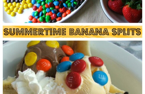 Summertime Banana Splits with M&M's®
