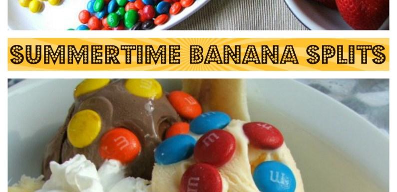 Summertime Banana Splits with M&M's®