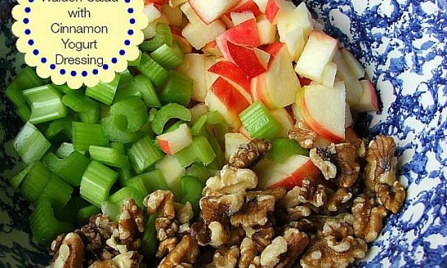 Crunchy Waldorf Salad with Cinnamon Yogurt Dressing