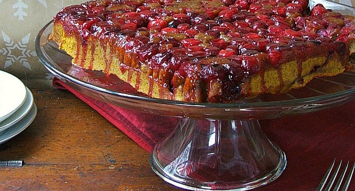 Pumpkin Cranberry Upside-Down Cake