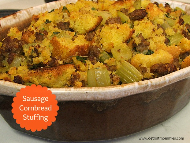 Jimmy Dean Sausage Cornbread Stuffing Recipe #SavorTheSeason