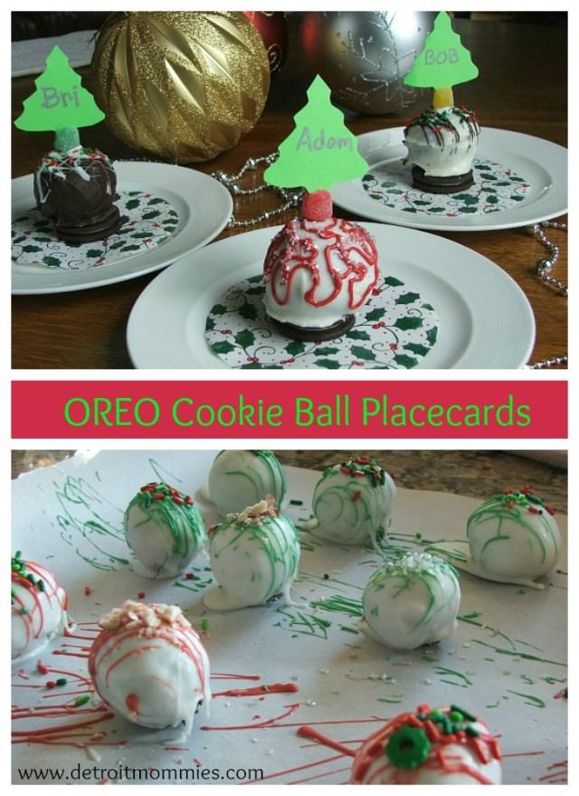 #OREOCookieBall Ornament Placecards