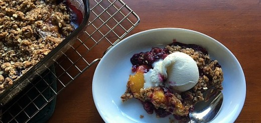 Classic Peach and Blueberry Crisp
