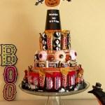 DIY Halloween Candy Cake