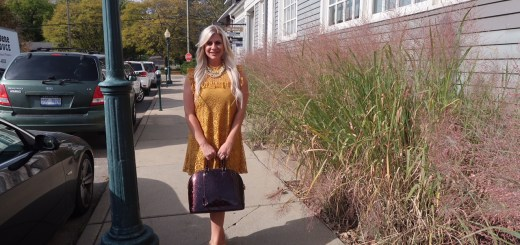 Shannon Lazovski in Gold Dress at Rochester Brunch House
