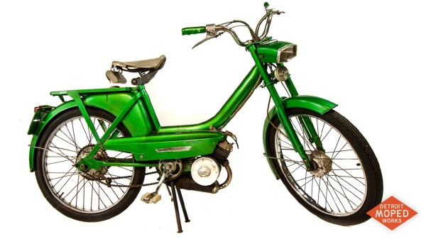 1964 Peugeot CT antique moped at Detroit Moped Works