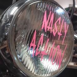 Nasty Action headlight decal.