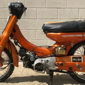 Rare Orange Yamaha U7E motorcycle project – as is
