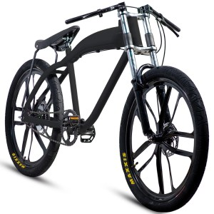 NEW stylish black motorized bicycle (with or without motor)