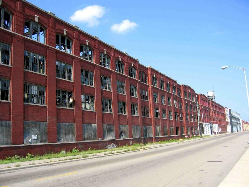 Image result for image of detroit shuttered factories