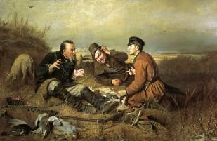 Описание картины В. Г. Перова «Охотники на привале»