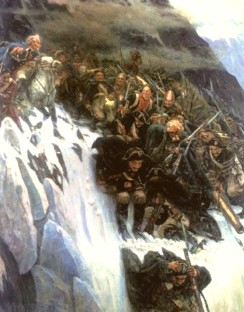Описание картины В. И. Сурикова «Переход Суворова через Альпы»
