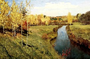 Описание картины И. И. Левитана «Золотая осень»
