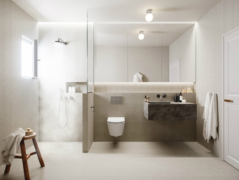 bagno moderno e luminoso