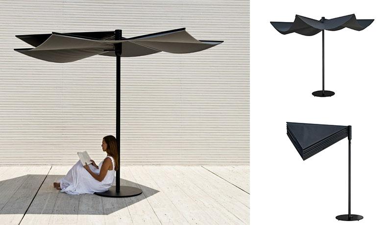 ombrellone di design in tessuto tecnico
