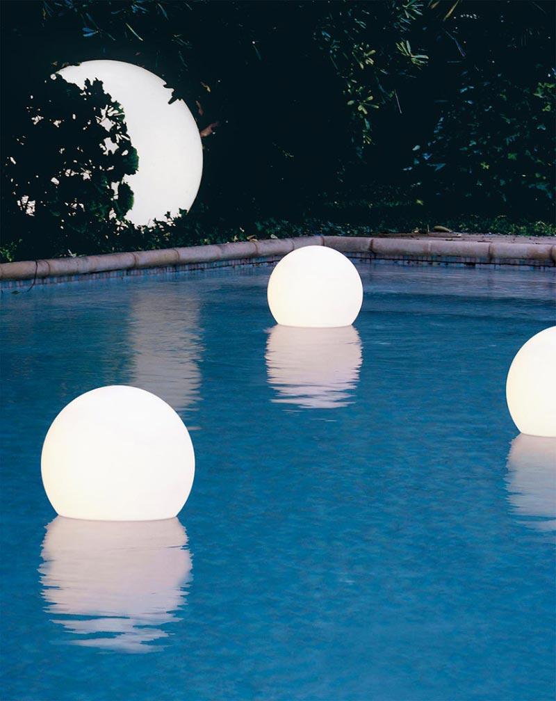 lampade a sfera galleggianti