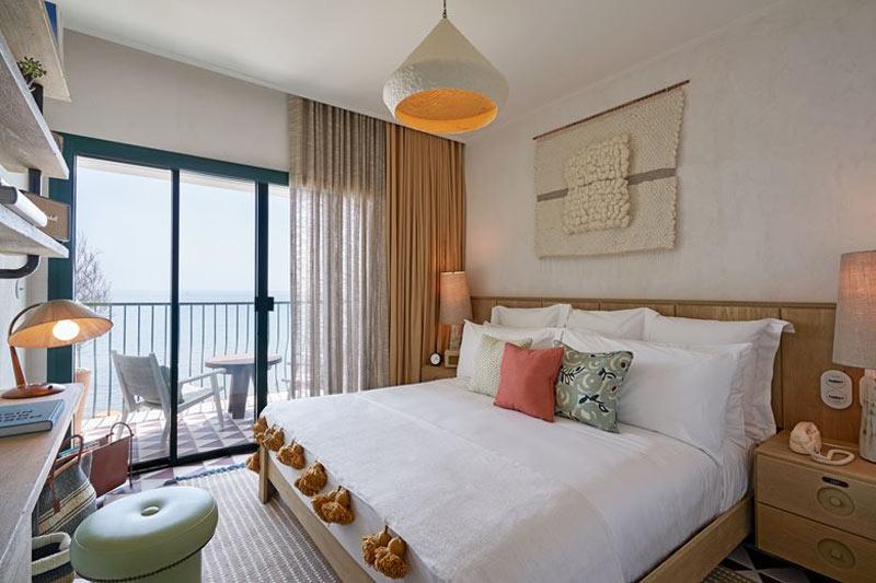 camera da letto in stile mediterraneo