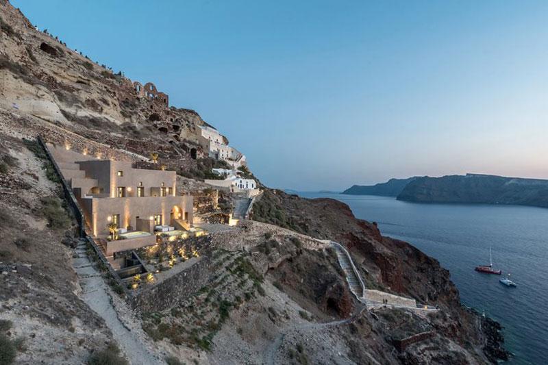 vista panoramica dal Boutique Hotel di Santorini