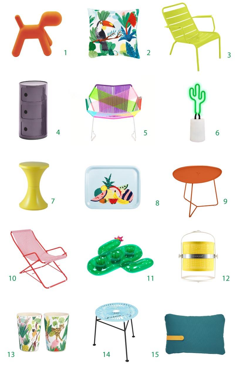 arredi e complementi di design a colori
