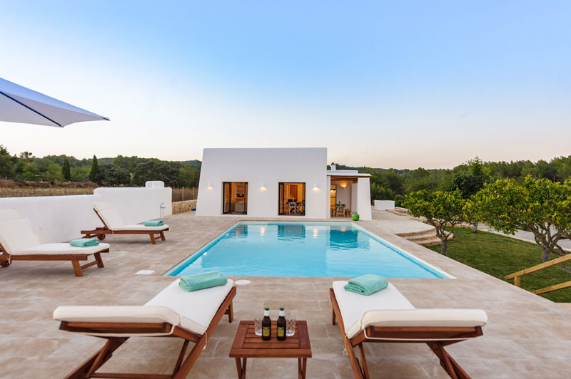 villa per vacanze con piscina